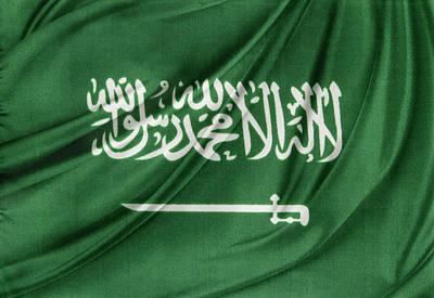 Arabia Photograph - Saudi Arabian Flag by Les Cunliffe