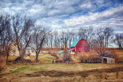 Saunders County Farm 1 Print by Nikolyn McDonald