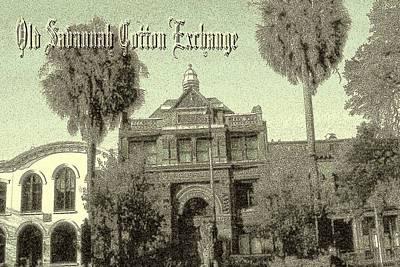 America Drawing - Savannah Cotton Exchange - Old Ink by Art America Online Gallery