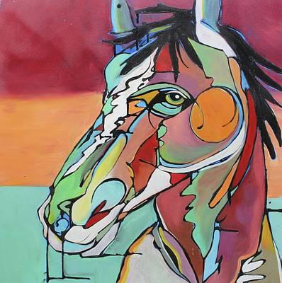 Equestrian Painting - Savannah  by Nicole Gaitan