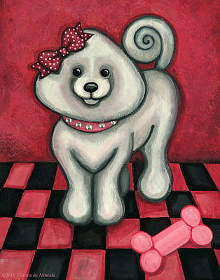 Small Dogs Painting - Savannah Smiles by Victoria De Almeida