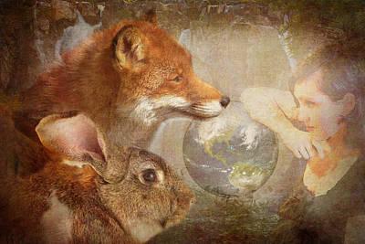 Fox Digital Art - Save Our World by Terry Fleckney