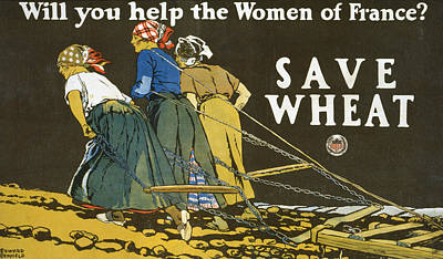 Save Wheat Print by Edward Penfield