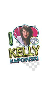 Kelly Slater Digital Art - Saved By The Bell - I Love Kelly by Brand A
