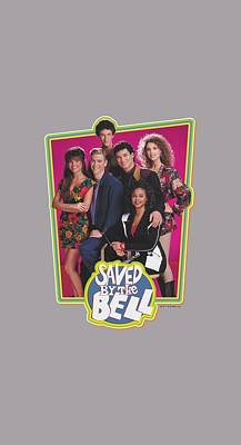 Kelly Slater Digital Art - Saved By The Bell - Saved Cast by Brand A