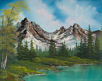 Wet On Wet Painting - Sawtooth Saddle by C Steele