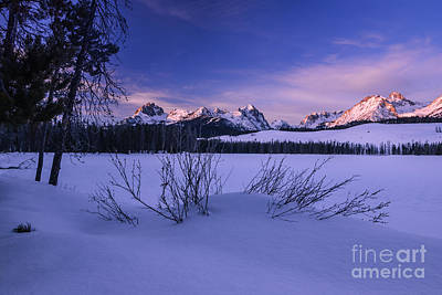 Sawtooth Winter Sunrise In Stanley Idaho Print by Vishwanath Bhat