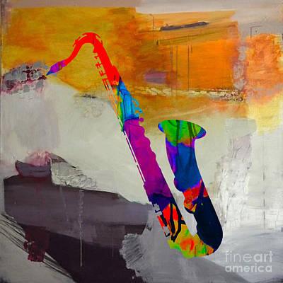 Jazz Mixed Media - Sax by Marvin Blaine