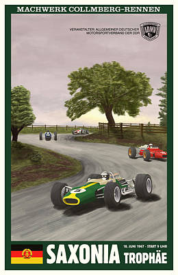 Icon Reproductions Digital Art - Saxony Germany Grand Prix 1967 by Georgia Fowler
