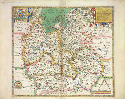 Cartography Photograph - Saxton's Atlas Of England And Wales by British Library