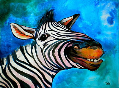 Cartoon Animals Painting - Say Cheese by Debi Starr
