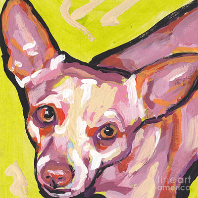 Chihuahua Dog Art Painting - Say Chiii's by Lea S