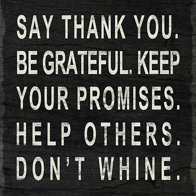 Say Thank You Print by South Social Studio