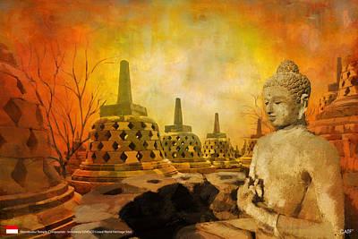 Sborobudur Temple Compounds Print by Catf