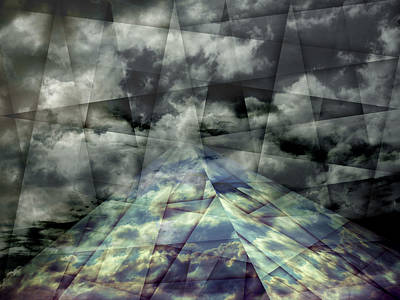 Scaffold Of Time Print by Florin Birjoveanu