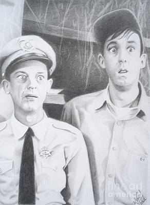 Andy Griffith Show Drawing - Scared Silly by Kendra Tharaldsen-Franklin