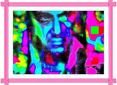 Etc. Digital Art - Scarf Face by HollyWood Creation By linda zanini
