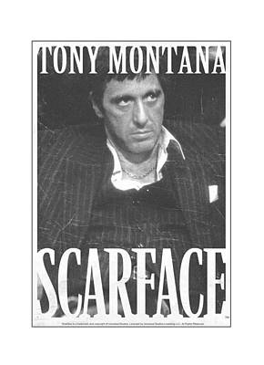 Montana Digital Art - Scarface - Business Face by Brand A