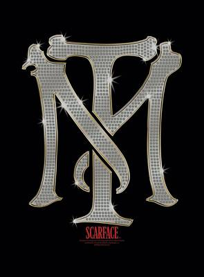 Montana Digital Art - Scarface - Tm Bling by Brand A