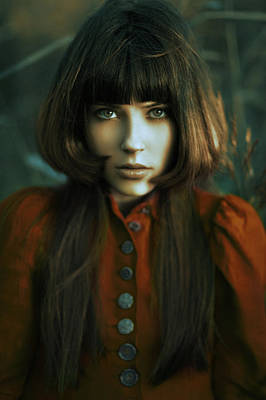 Gaze Photograph - Scarlet by Alexander Kuzmin