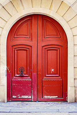 Door Photograph - Scarlet by Melanie Alexandra Price