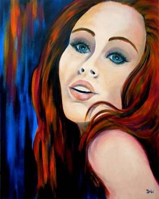 Mysterious Women Painting - Scarlet's Secret by Debi Starr