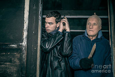 Accomplice Photograph - Scary Armed Men by Jan Mika
