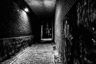 Scary Dark Alley Print by Louis Dallara