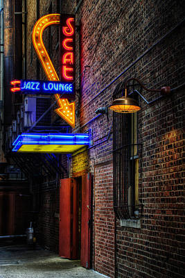 Scat Lounge Living Color Print by Joan Carroll