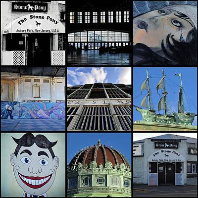 Scenes From Asbury Park New Jersey Collage Print by Terry DeLuco