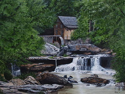 Scenic Grist Mill Original by Vicky Path