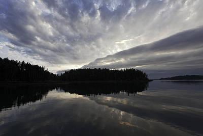 Scenic Maine Roque Island Archipelago Reflections Print by Susan  Degginger