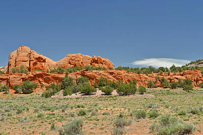 Scenic Navajo Route 12 Near Fort Defiance Print by Christine Till