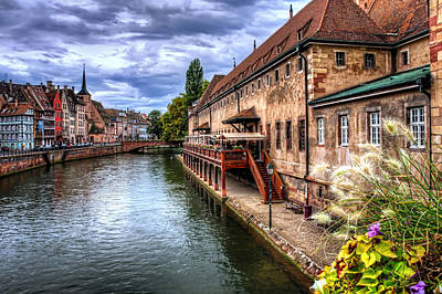 Water Reflections Photograph - Scenic Strasbourg  by Carol Japp