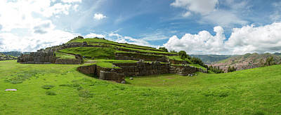 Inca Photograph - Scenic View Of Inca Archaeological by Panoramic Images