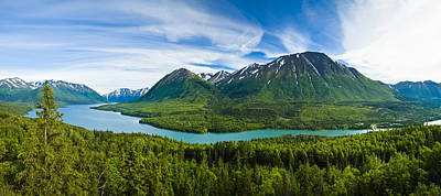 Scenic View Of Kenai Lake And River Print by Michael DeYoung