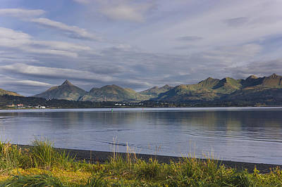 Scenic View Of Womens Bay, Kodiak Print by Kevin Smith