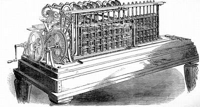 Scheutz's Calculating Machine Print by Universal History Archive/uig