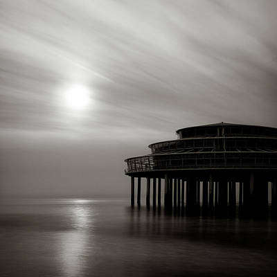 Pier Sunset Print by Dave Bowman