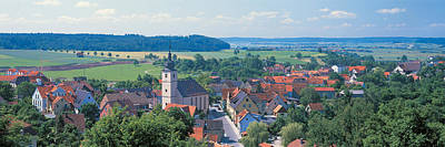 Rooftop Photograph - Schillingsfurst Germany by Panoramic Images