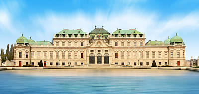 Schloss Belvedere - Vienna Print by Marc Huebner