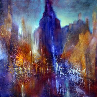 Church Pillars Painting - Schlossallee by Annette Schmucker