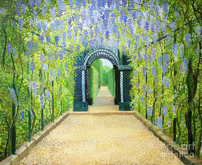 Gazebo Painting - Schoenbrunn In Vienna The Palace Gardens by Kiril Stanchev
