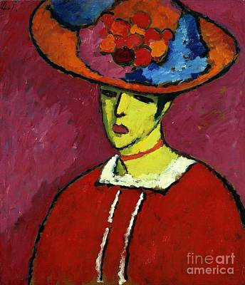 Russia Painting - Schokko With Wide Brimmed Hat by Celestial Images