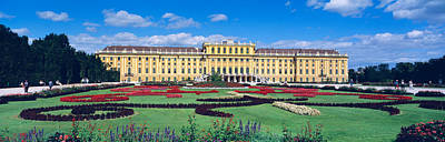 Chateau Photograph - Schonbrunn Palace, Gardens, Vienna by Panoramic Images