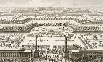 Schonbrunn Palace In Vienna Print by Johann Adam Delsenbach