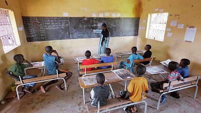 Senegal Photograph - School Children by Thierry Berrod, Mona Lisa Production