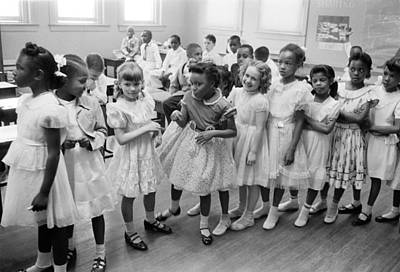 Integrated Photograph - School Integration In 1955 by Underwood Archives
