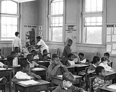 Washington D.c. Photograph - School Lunch Program by Underwood Archives
