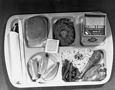 Sixties Photograph - School Lunch Tray by Underwood Archives